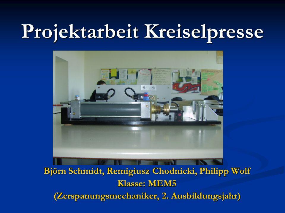 Projektarbeit Kreiselpresse