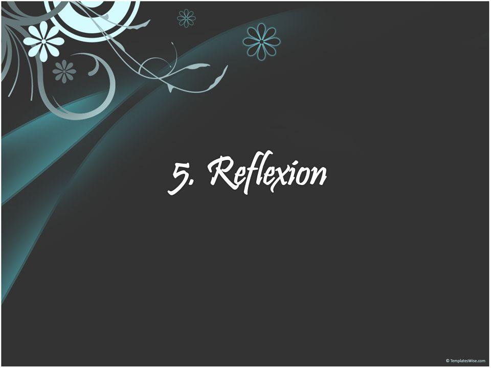 5. Reflexion