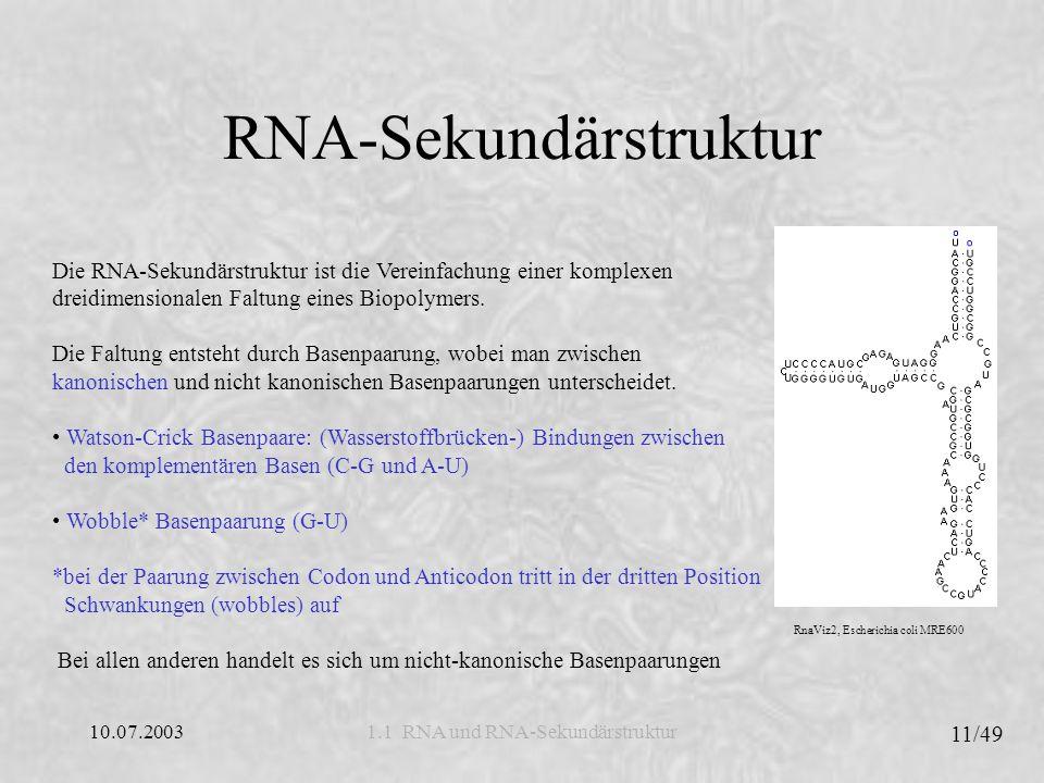 RNA-Sekundärstruktur