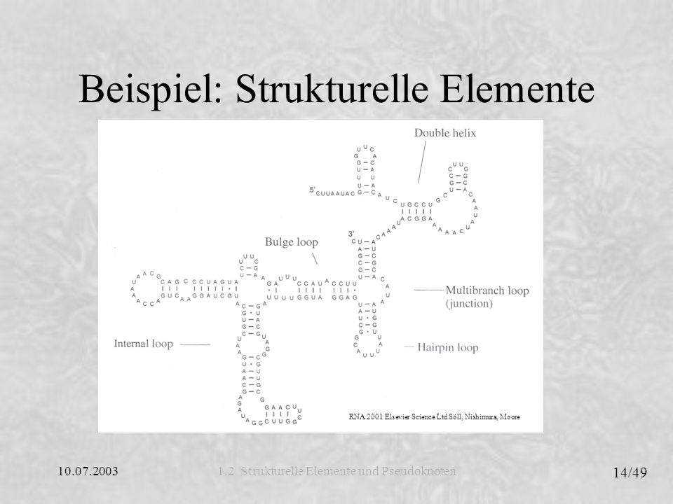 Beispiel: Strukturelle Elemente