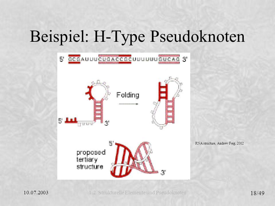 Beispiel: H-Type Pseudoknoten