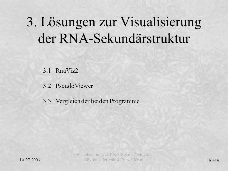 3. Lösungen zur Visualisierung der RNA-Sekundärstruktur