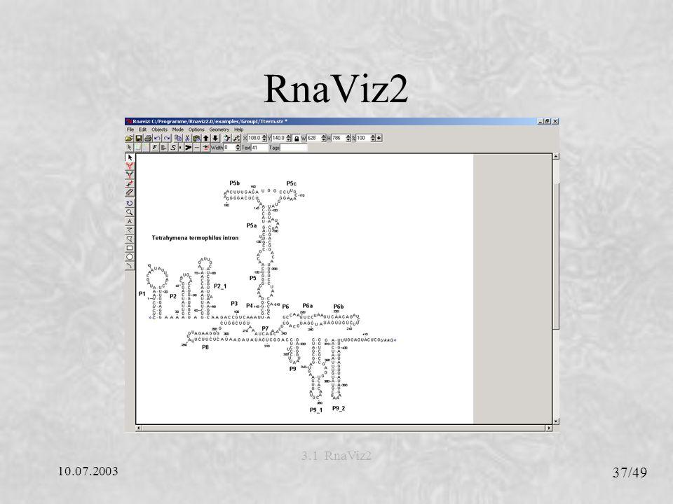 RnaViz2 3.1 RnaViz2 10.07.2003 37/49