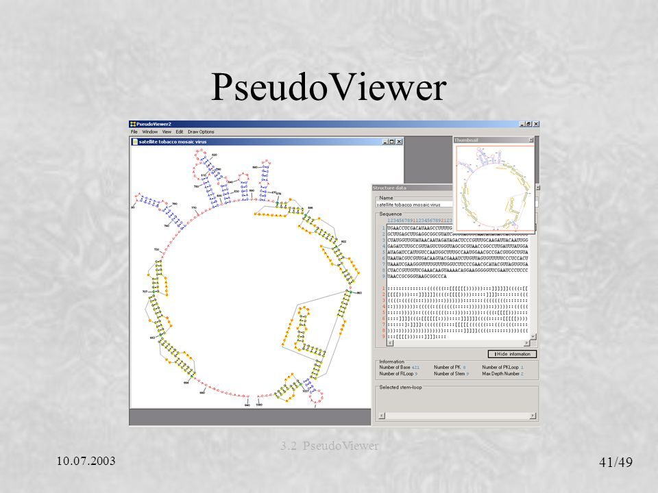 PseudoViewer 3.2 PseudoViewer 10.07.2003 41/49