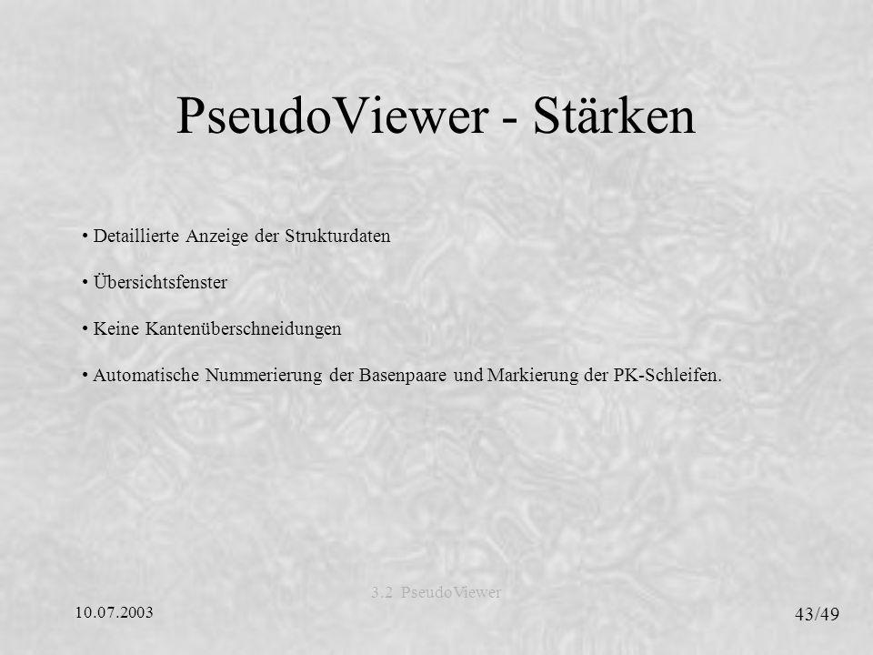 PseudoViewer - Stärken