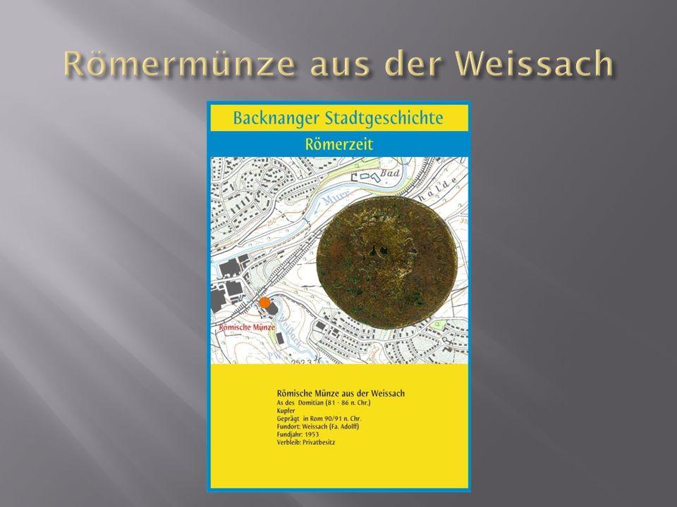 Römermünze aus der Weissach