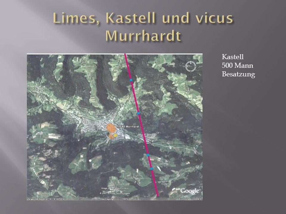 Limes, Kastell und vicus Murrhardt