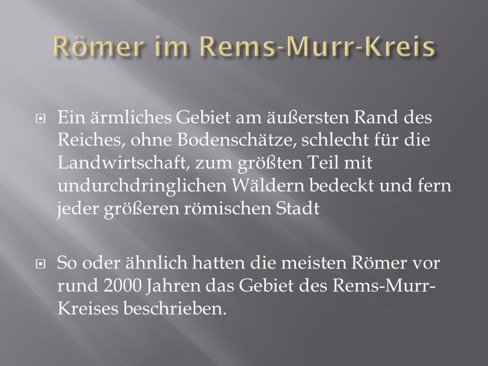 Römer im Rems-Murr-Kreis