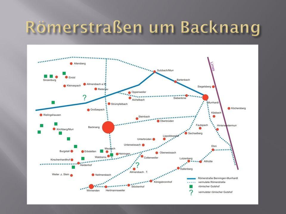 Römerstraßen um Backnang