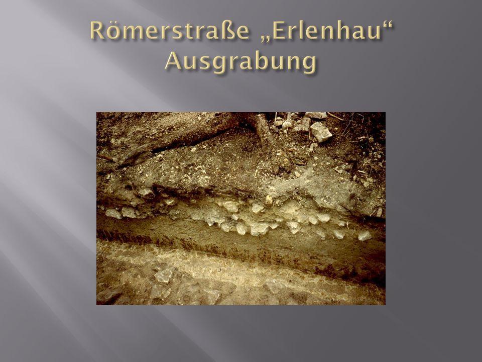 "Römerstraße ""Erlenhau Ausgrabung"