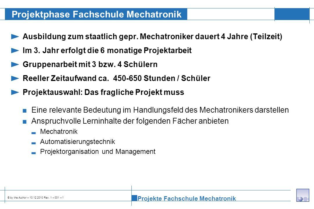 Projektphase Fachschule Mechatronik