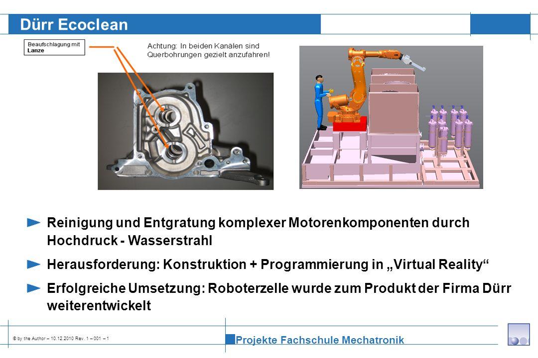 Dürr Ecoclean Reinigung und Entgratung komplexer Motorenkomponenten durch Hochdruck - Wasserstrahl.