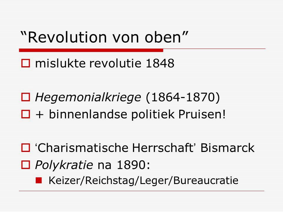 Revolution von oben mislukte revolutie 1848