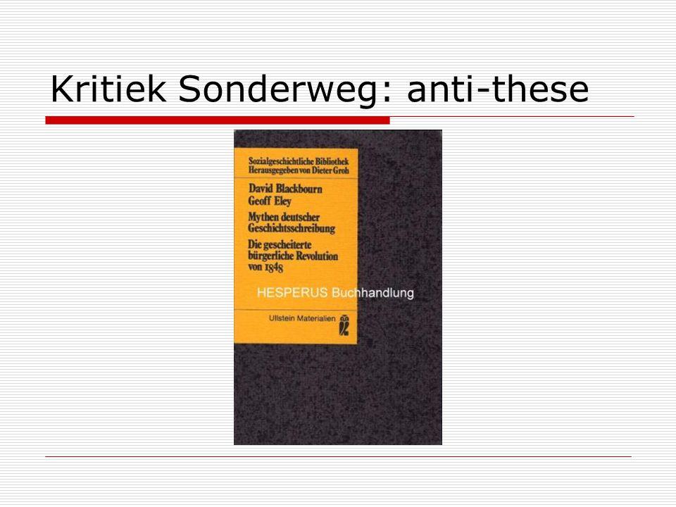 Kritiek Sonderweg: anti-these