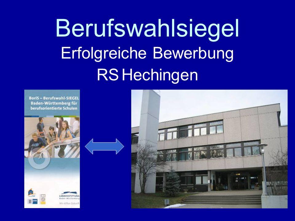 Erfolgreiche Bewerbung RS Hechingen