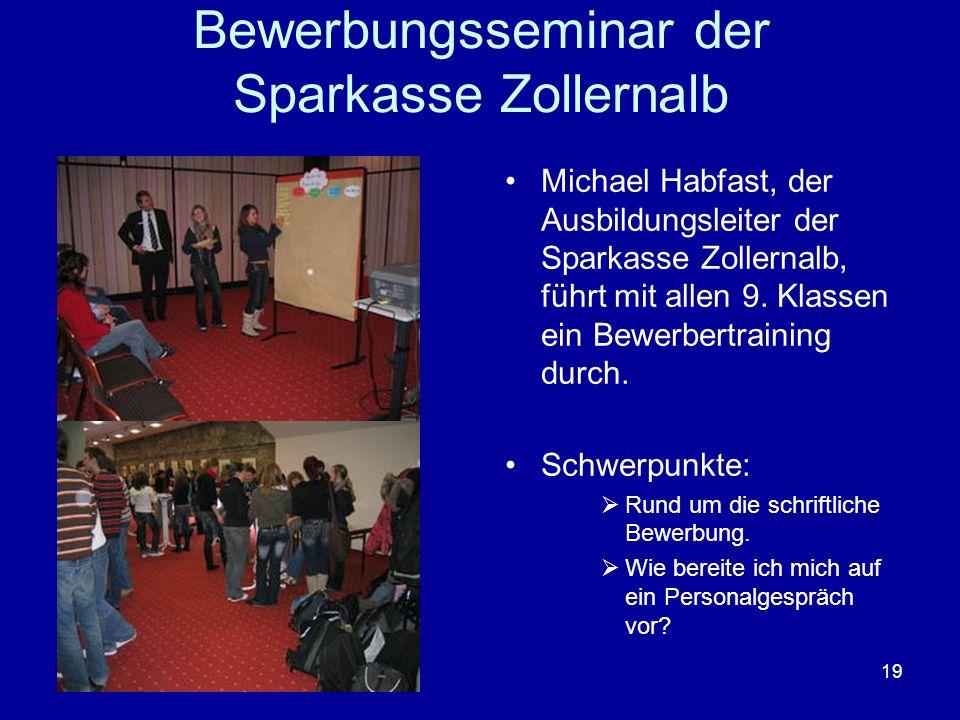 Bewerbungsseminar der Sparkasse Zollernalb