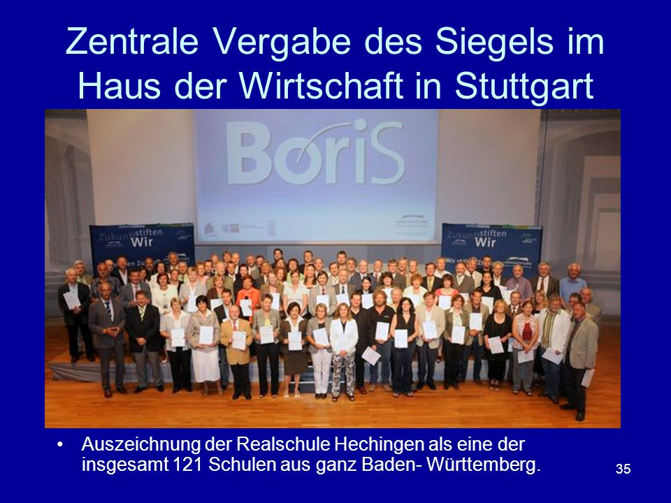 Zentrale Vergabe des Siegels im Haus der Wirtschaft in Stuttgart