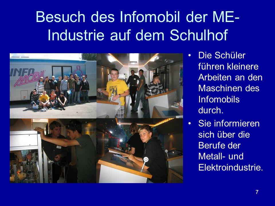 Besuch des Infomobil der ME- Industrie auf dem Schulhof