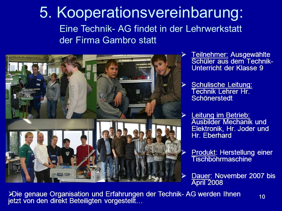 5. Kooperationsvereinbarung: