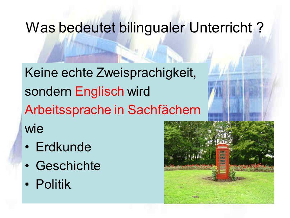 Was bedeutet bilingualer Unterricht