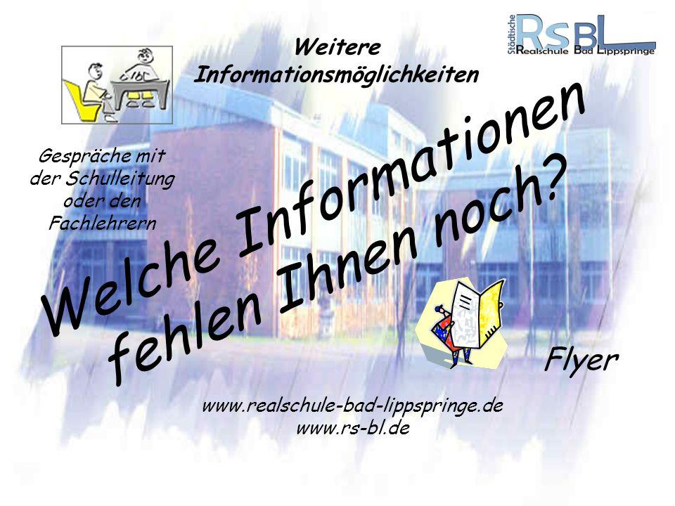 Weitere Informationsmöglichkeiten