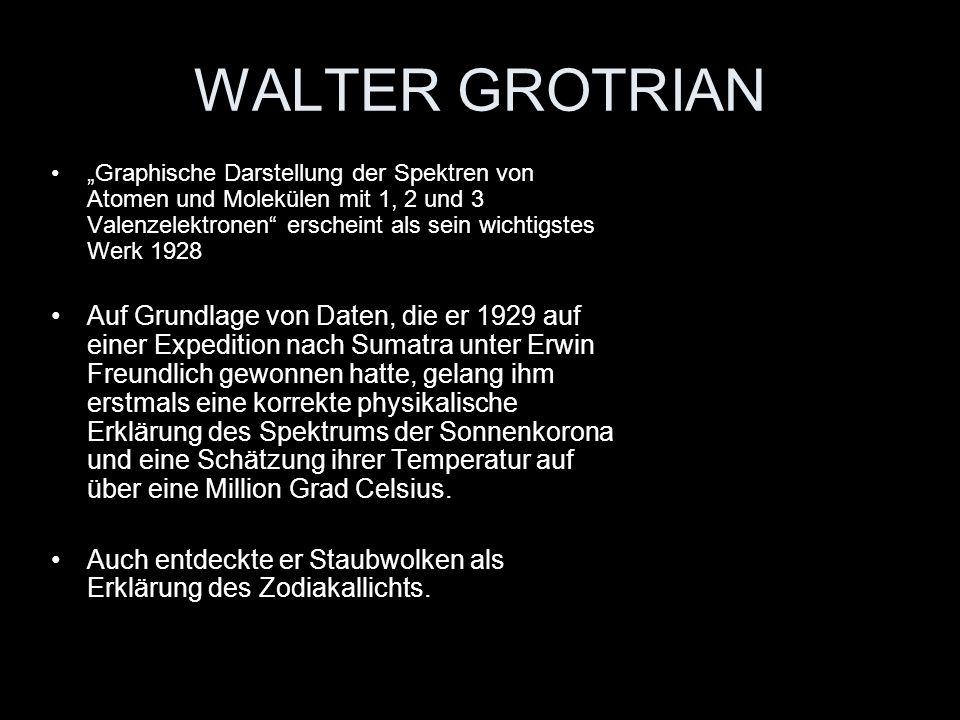 WALTER GROTRIAN