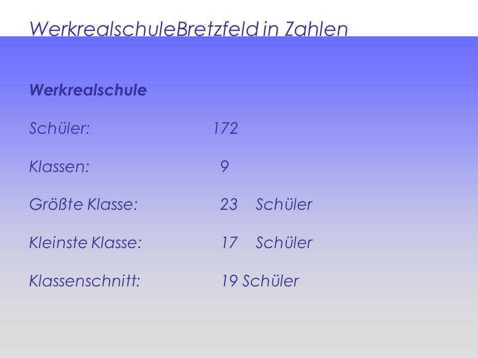 WerkrealschuleBretzfeld in Zahlen