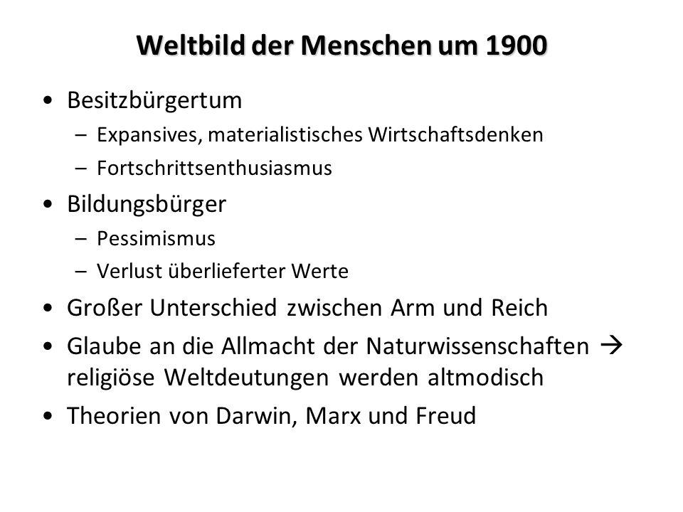 Weltbild der Menschen um 1900