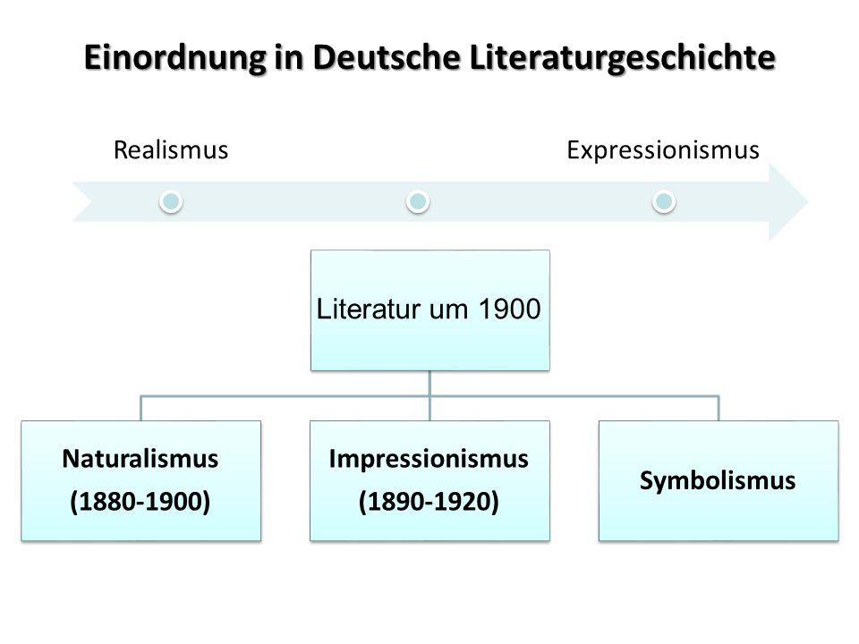 Einordnung in Deutsche Literaturgeschichte