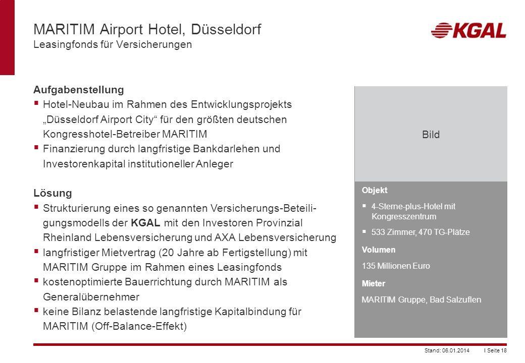 MARITIM Airport Hotel, Düsseldorf Leasingfonds für Versicherungen