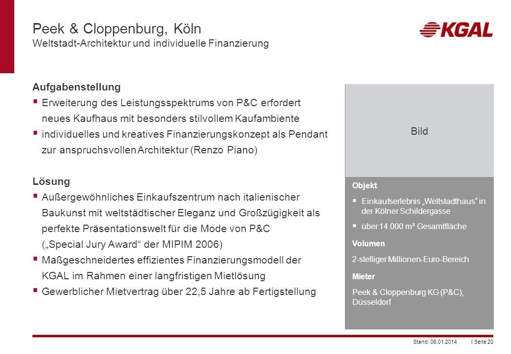 Peek & Cloppenburg, Köln Weltstadt-Architektur und individuelle Finanzierung