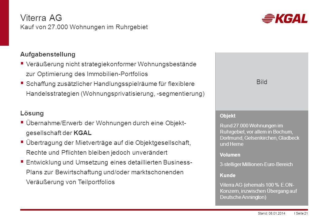 Viterra AG Kauf von 27.000 Wohnungen im Ruhrgebiet