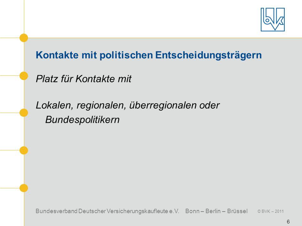 Kontakte mit politischen Entscheidungsträgern