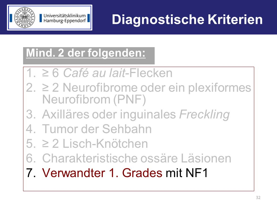 Diagnostische Kriterien