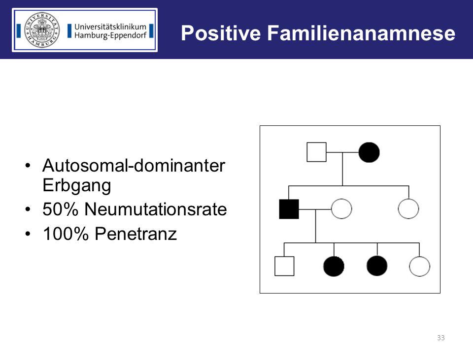 Positive Familienanamnese