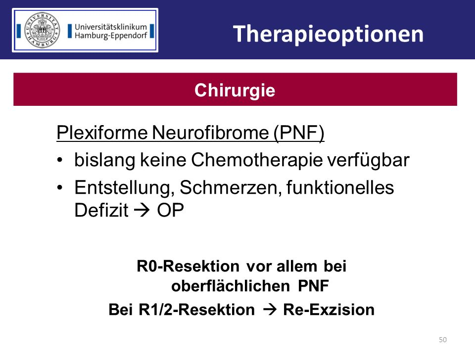 Therapieoptionen Plexiforme Neurofibrome (PNF)