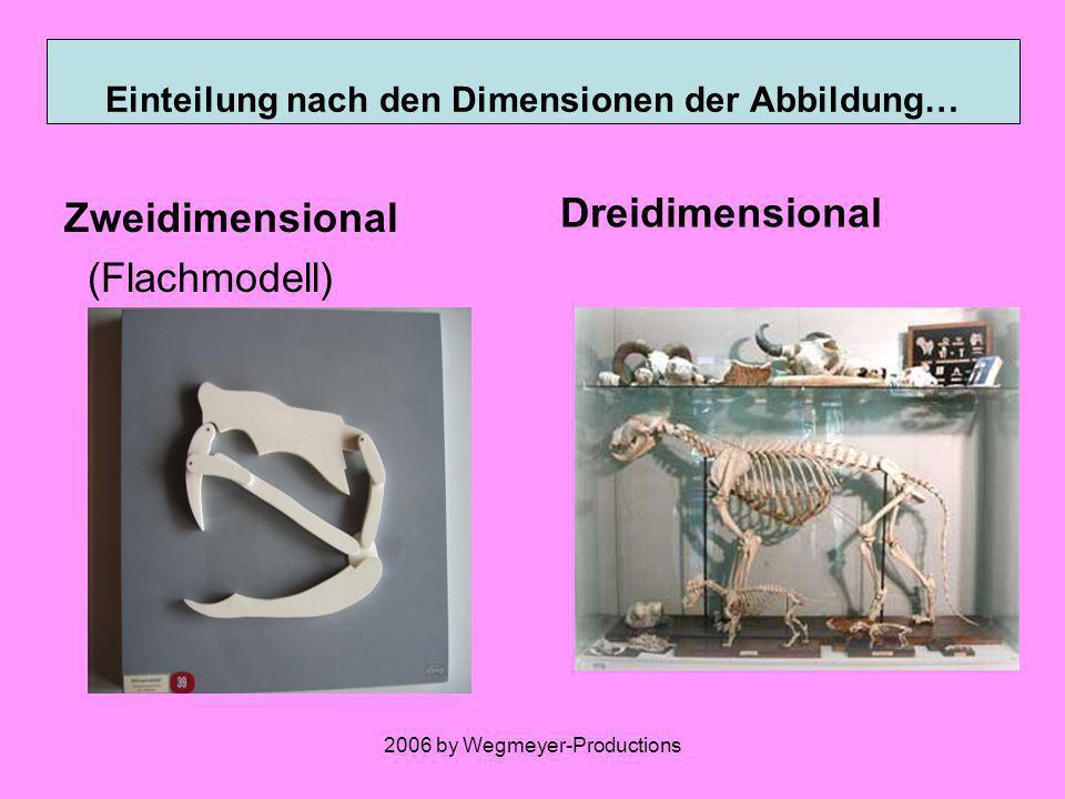 Einteilung nach den Dimensionen der Abbildung…