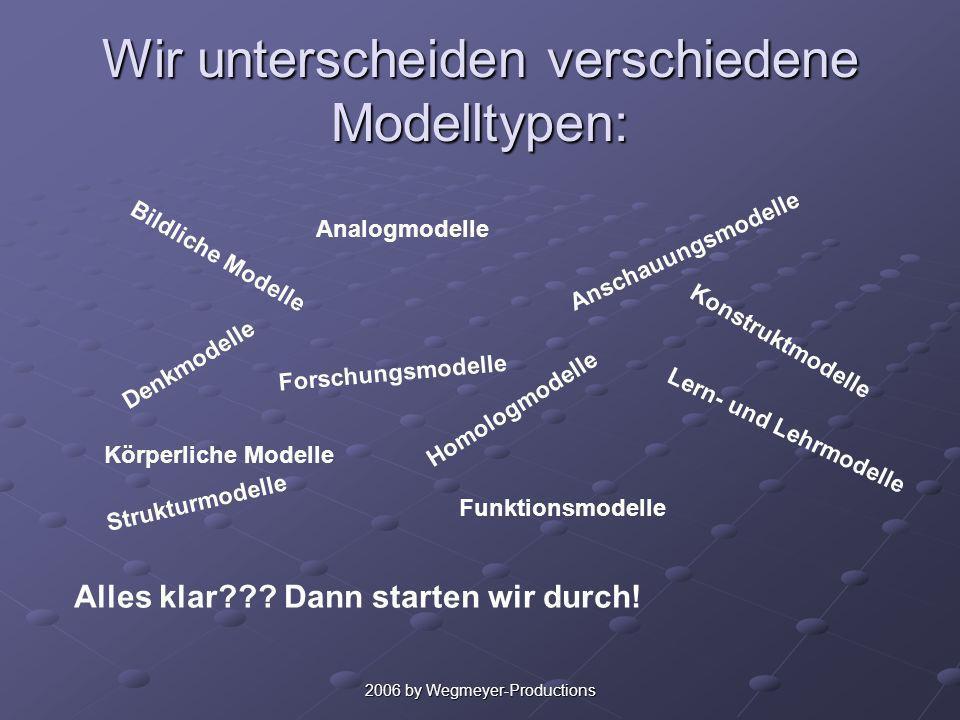 Wir unterscheiden verschiedene Modelltypen: