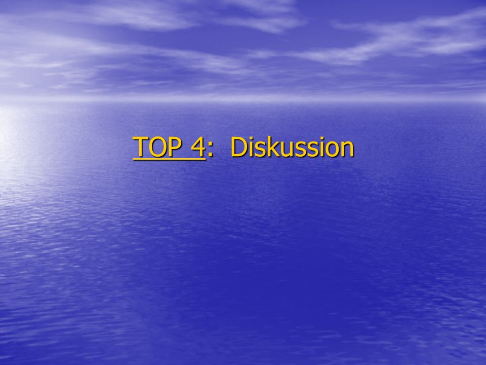 TOP 4: Diskussion