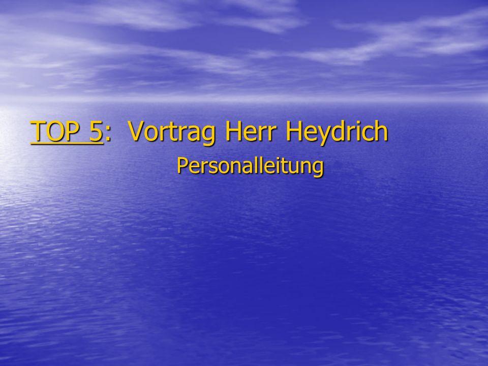 TOP 5: Vortrag Herr Heydrich Personalleitung