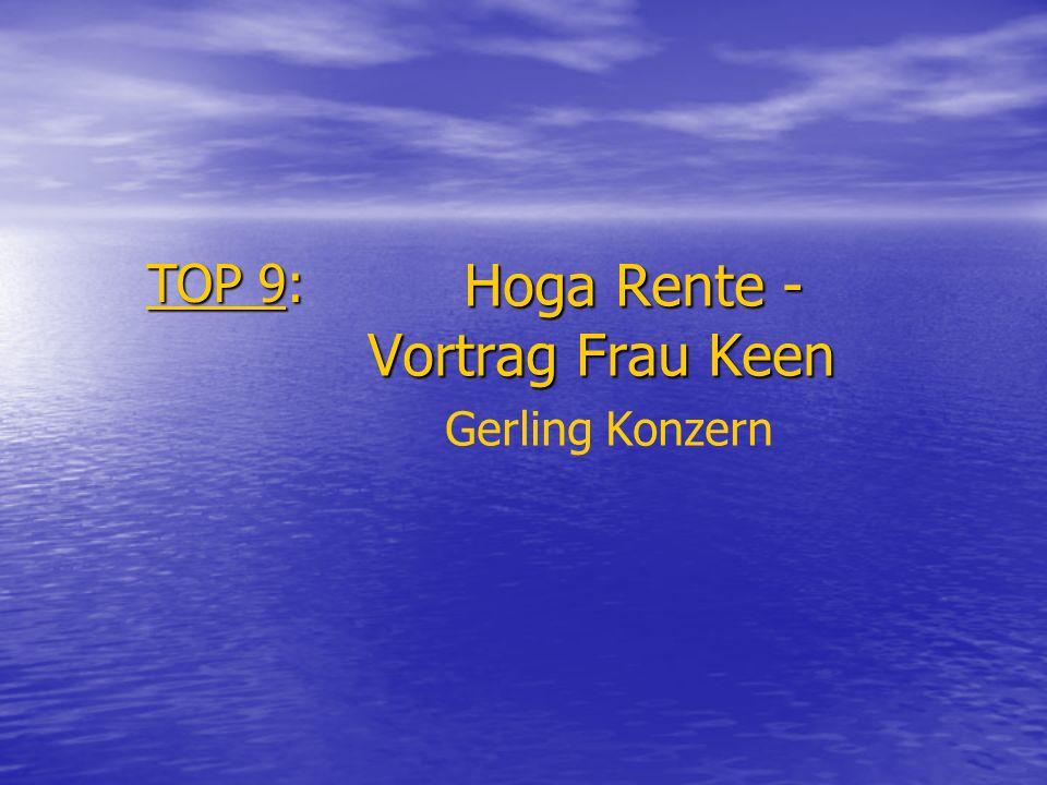 Hoga Rente - Vortrag Frau Keen Gerling Konzern