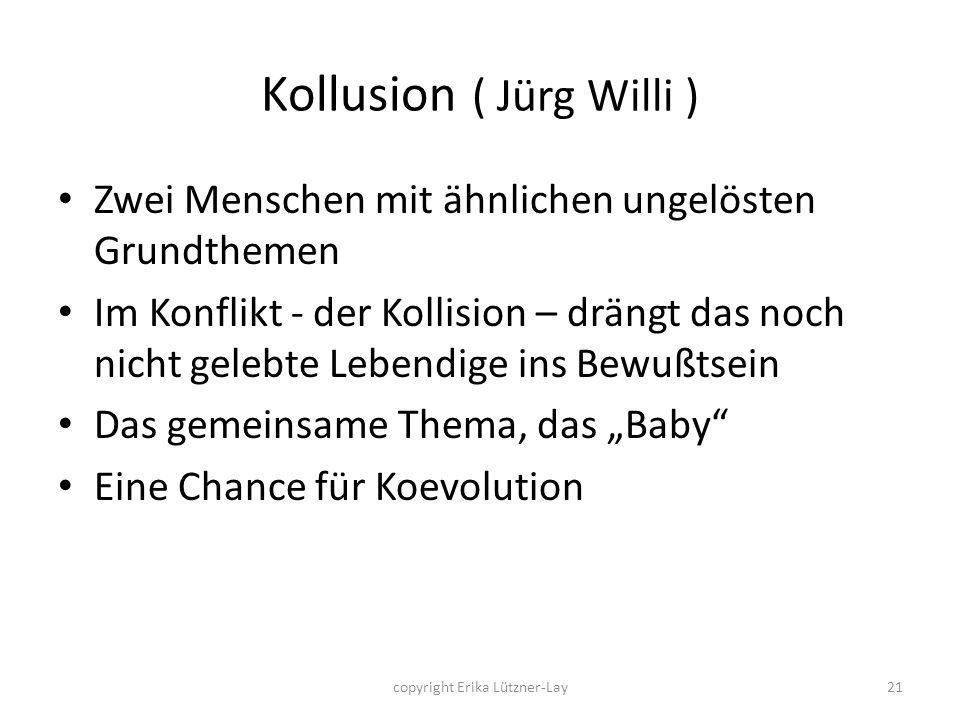 Kollusion ( Jürg Willi )