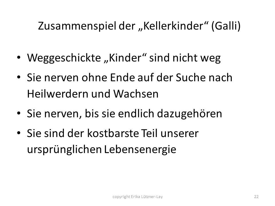 """Zusammenspiel der """"Kellerkinder (Galli)"""