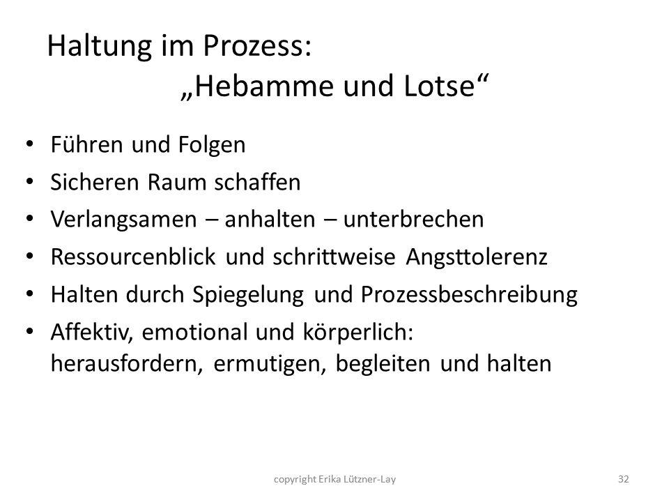 """Haltung im Prozess: """"Hebamme und Lotse"""