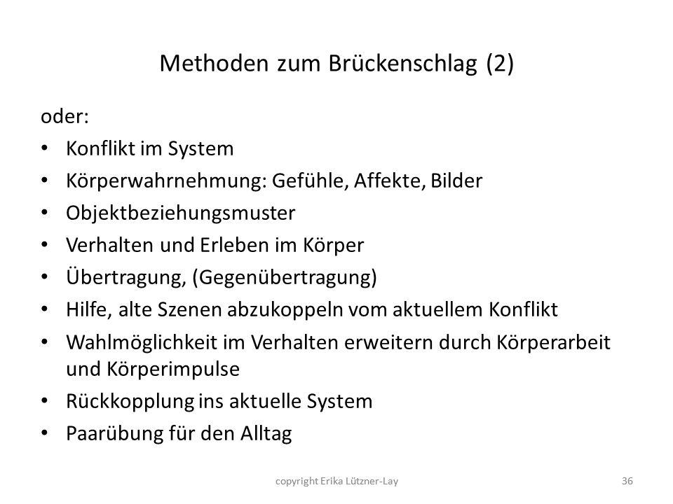 Methoden zum Brückenschlag (2)