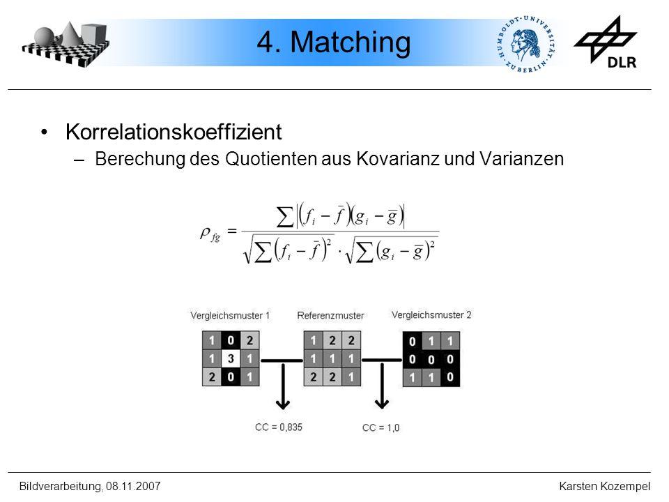 4. Matching Korrelationskoeffizient