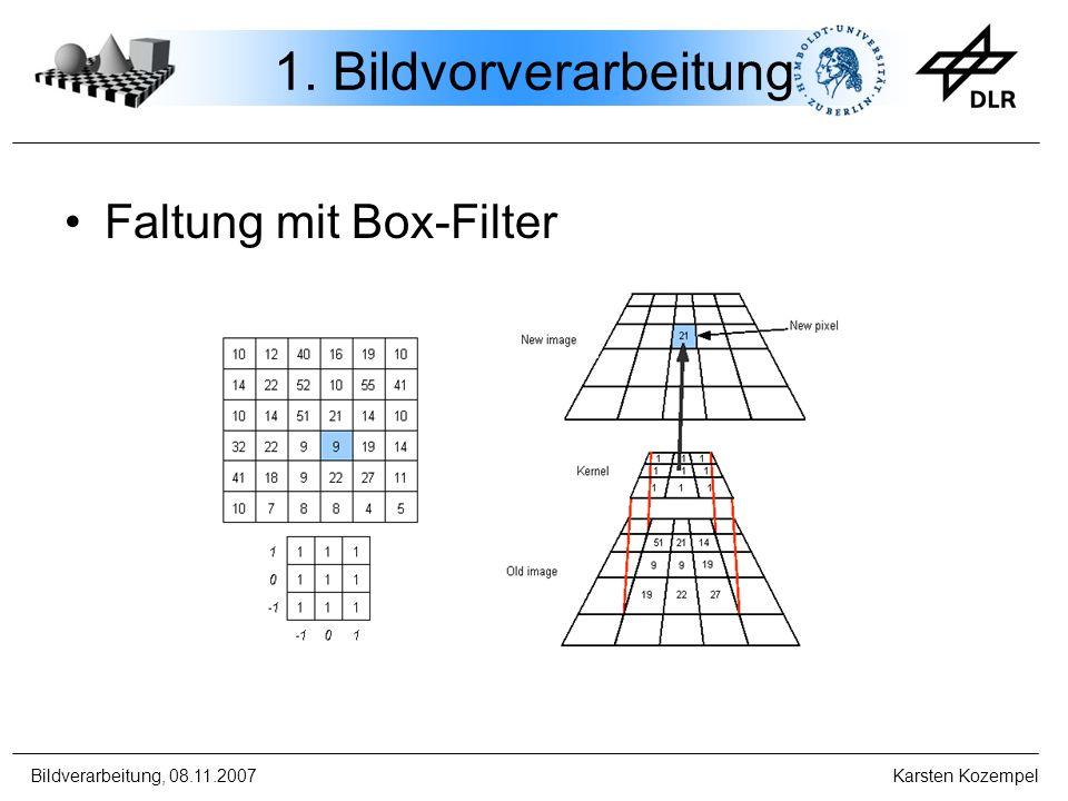1. Bildvorverarbeitung Faltung mit Box-Filter