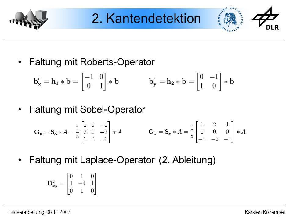 2. Kantendetektion Faltung mit Roberts-Operator