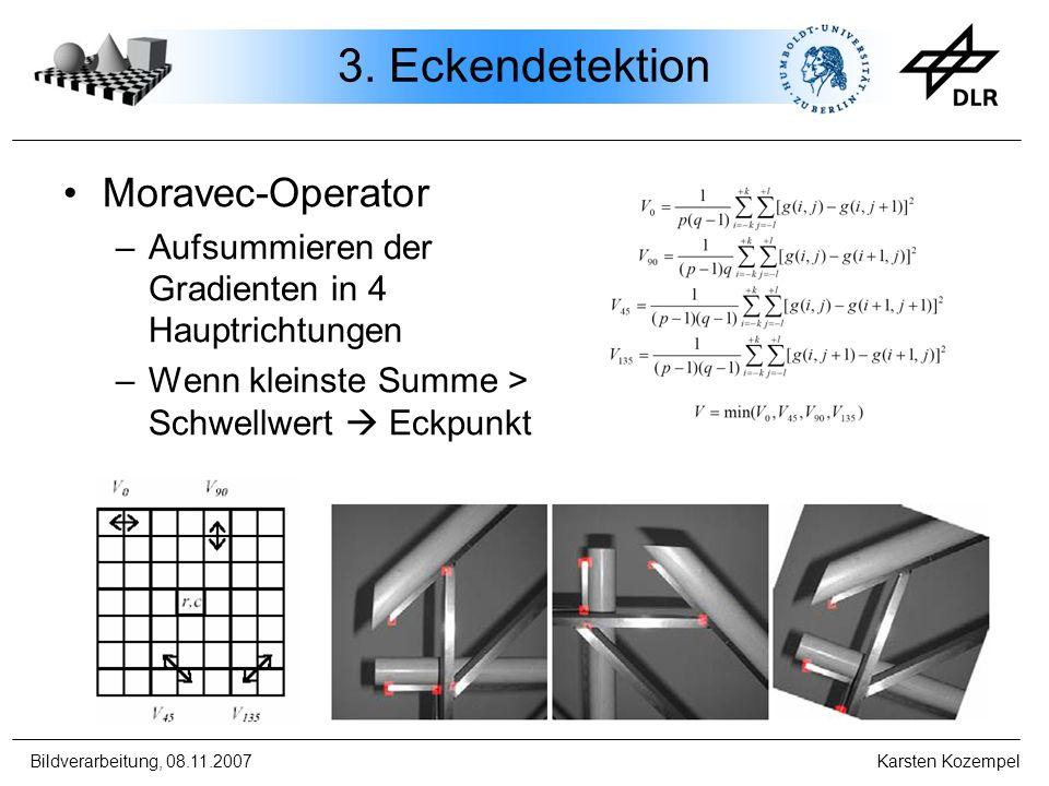 3. Eckendetektion Moravec-Operator
