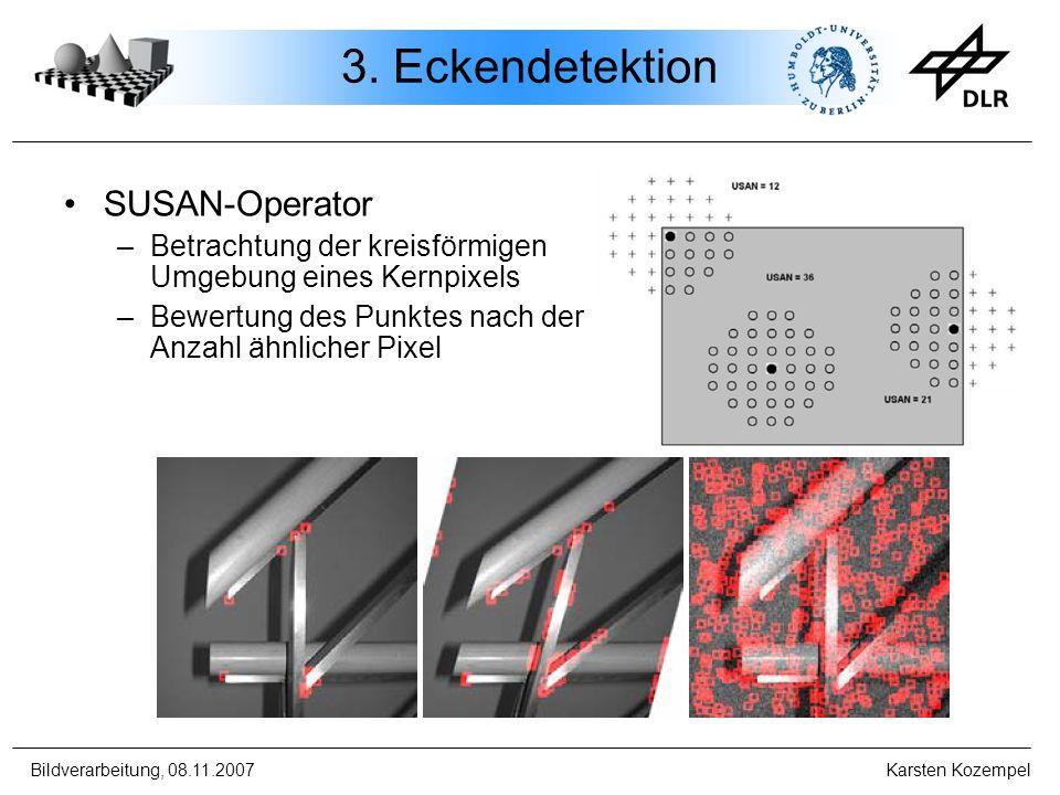3. Eckendetektion SUSAN-Operator